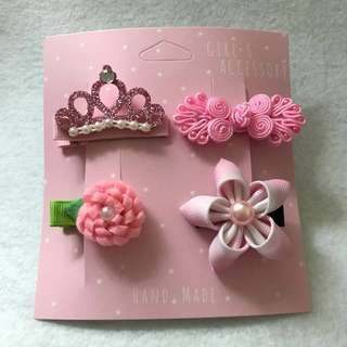 < CNY COLLECTION > Light Pink Hair Clip Set 1