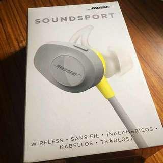 [無線] Bose SoundSport Wireless Headphones Citron 無線耳機 (不議價)
