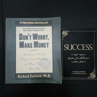 Don't Worry, Make Money. Spiritual and Practical Ways to Create Abundance and More Fun in Your Life. Richard Carlson.