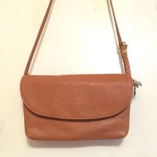 女裝棕色斜孭袋
