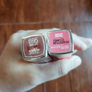 Maybelline Lipstick (For 2!!!!!)