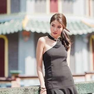 [FABFAD] Oriental Affair Toga Cheongsam - Black