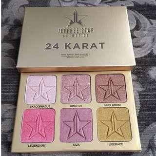 Jeffree Star Cosmetics Holiday Collection 24 Karat Pro Palette $55 EACH BRAND NEW & AUTHENTIC (NO OFFERS)