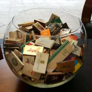 Old collection of match boxes