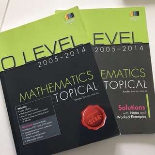 O Level TYS Topical Mathematics & Solutions
