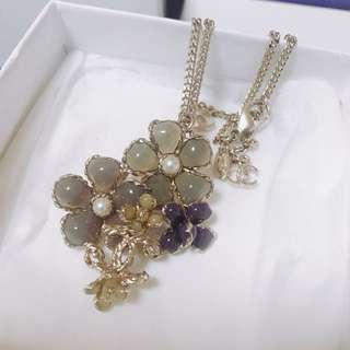Chanel flower necklace