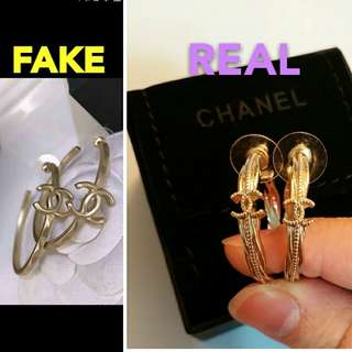 CHANEL ring shaped earrings ear ring golden color 金色圈圈耳環 娜扎同款 ABC至愛 竹昇妹 飛佛