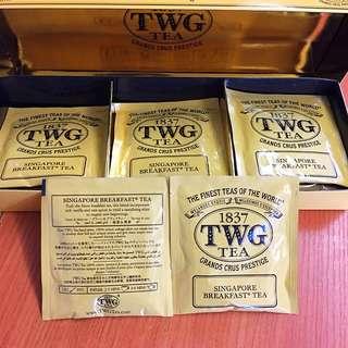 TWG Singapore Breakfast Tea 茶包 tea bag