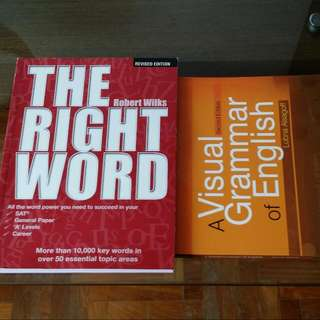 The Right Word By Robert Wilkes And A Visual Grammar Of English By Lubna Alsagoff