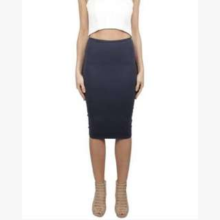 Brand new Kookai charcoal bandage skirt