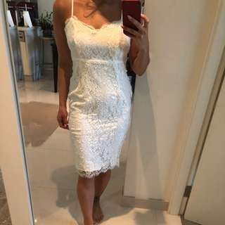 Misguided White Lace Dress