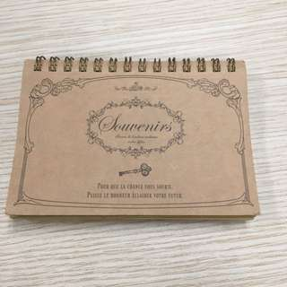 Daiso brown kraft notebook spiral