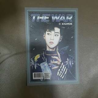 EXO XIUMIN THE WAR REGULAR A POSTCARD
