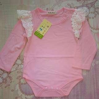 jumpsuit bayi pink baru