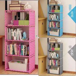DIY High Quality 4-Tube Book Shelf Single Layer Organizer
