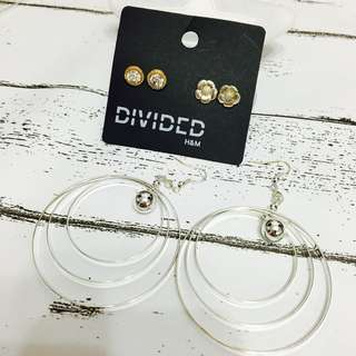 NEW 簡約 EARRINGS SET 大圈 套裝