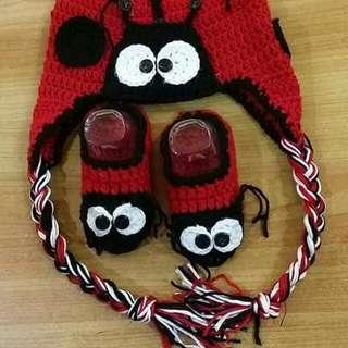 handmade baby crochet ladybug