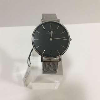 DW銀色鋼錶32mm