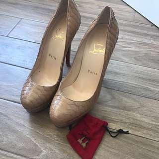 Christian Louboutin python Bianca shoes pump high heels