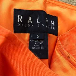 Ralph Lauren Orange Skirt