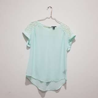 F21 mint blouse