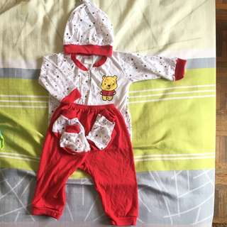 Disney pooh Sets of 5 in 1 baby cloth