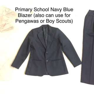 School Uniform Navy Blue Blazer (very new!)