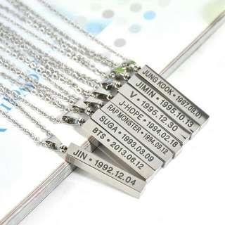 [PO] BTS Necklace (KPOP)