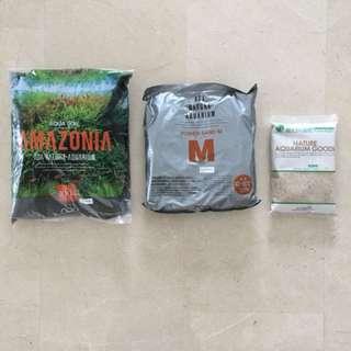 ADA Power Sand-M 2litre + Amazonia Aqua Soil 3 litre + Nature Makeup Sand 1 kg.