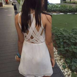 White Sexy Back H&M Flare Dress