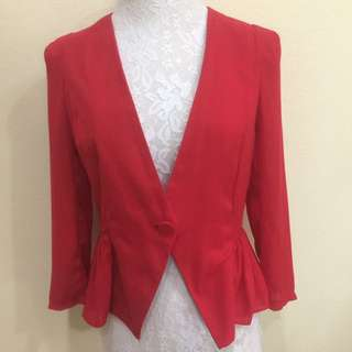 Red outerwear