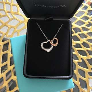 Tiffany 100% New Open Heart Silver + Rose Gold