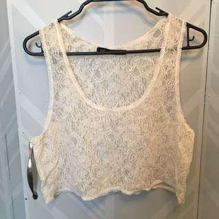 Dotti lace crop