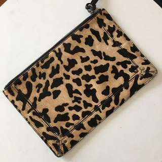 Seed - Leopard print genuine leather clutch