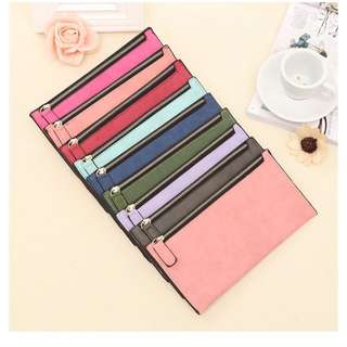 Dompet Simple Designer Zipper Women Leather