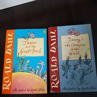 Roald Dahl James n the giant peach Danny the champion of the world