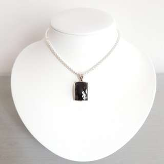 Rectangle Onyx Pendant with 925 sliver