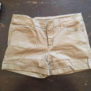 Tan short shorts