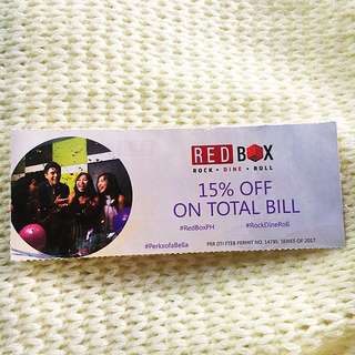 💕RED BOX 15% OFF ON TOTAL BILL