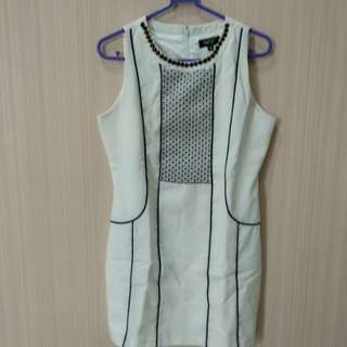 Dress maje white&black
