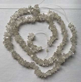 BN Clear White Stone Beads