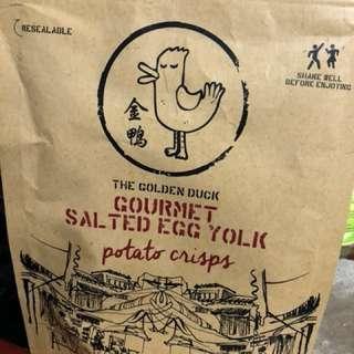 新加坡 金鴨 咸蛋薯片/魚皮(一包)
