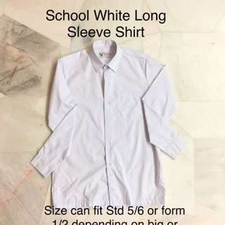School Uniform Long Sleeve White Shirt (very new)