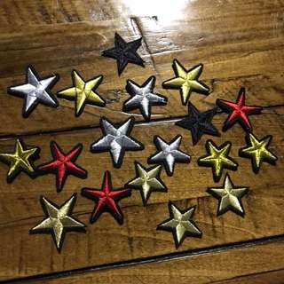 Star iron on patches