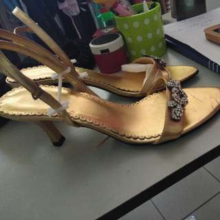 Gold Color heels