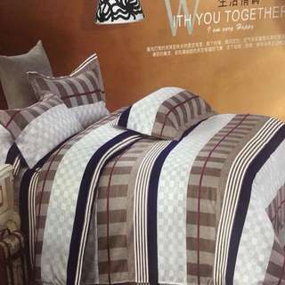 100% COTTON 4 in 1 Comforter Set Bedsheets KING SIZE ONLY