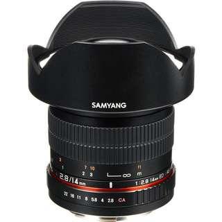 Samyang ultra wide 14mm F2.8 Sony Mount