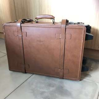"Cellini 21""x13"" leather luggage"