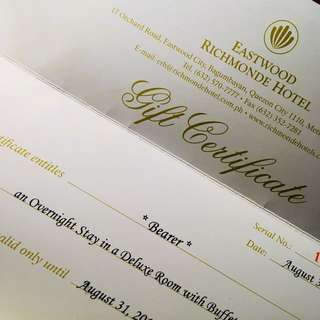 Richmonde Hotel Eastwood Voucher