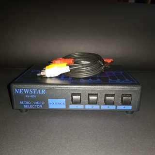 Newstar 4 Channel Audio Video Selector
